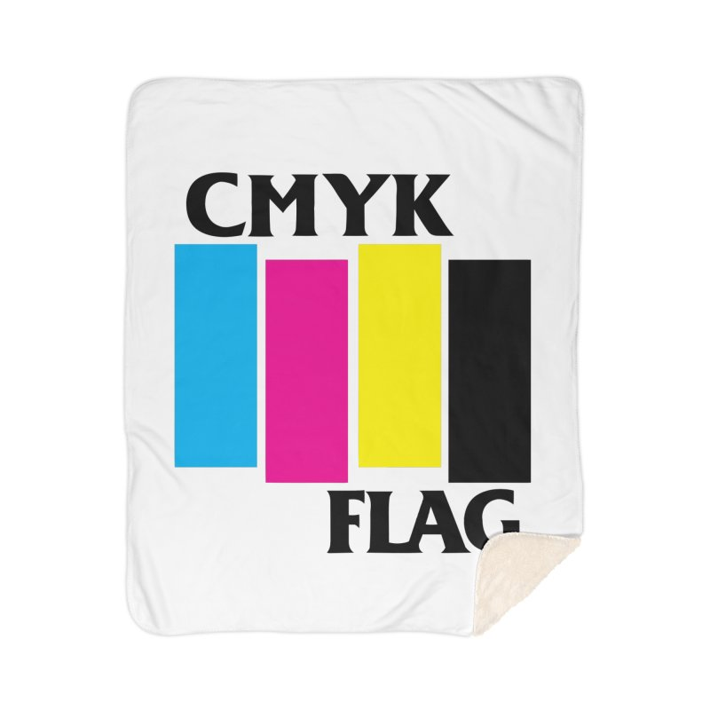 CMYK FLAG Home Sherpa Blanket Blanket by SavageMonsters's Artist Shop