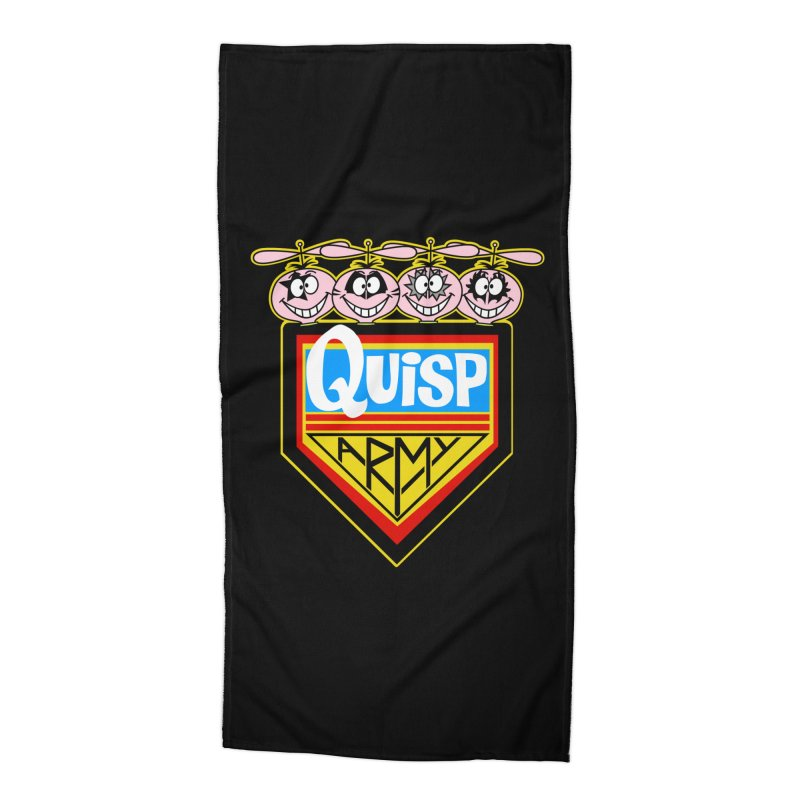 Quisp Army Accessories Beach Towel by SavageMonsters's Artist Shop