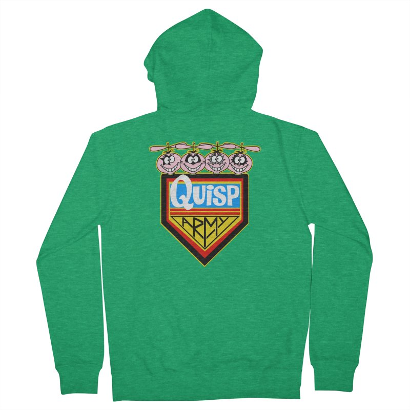 Quisp Army Men's Zip-Up Hoody by SavageMonsters's Artist Shop