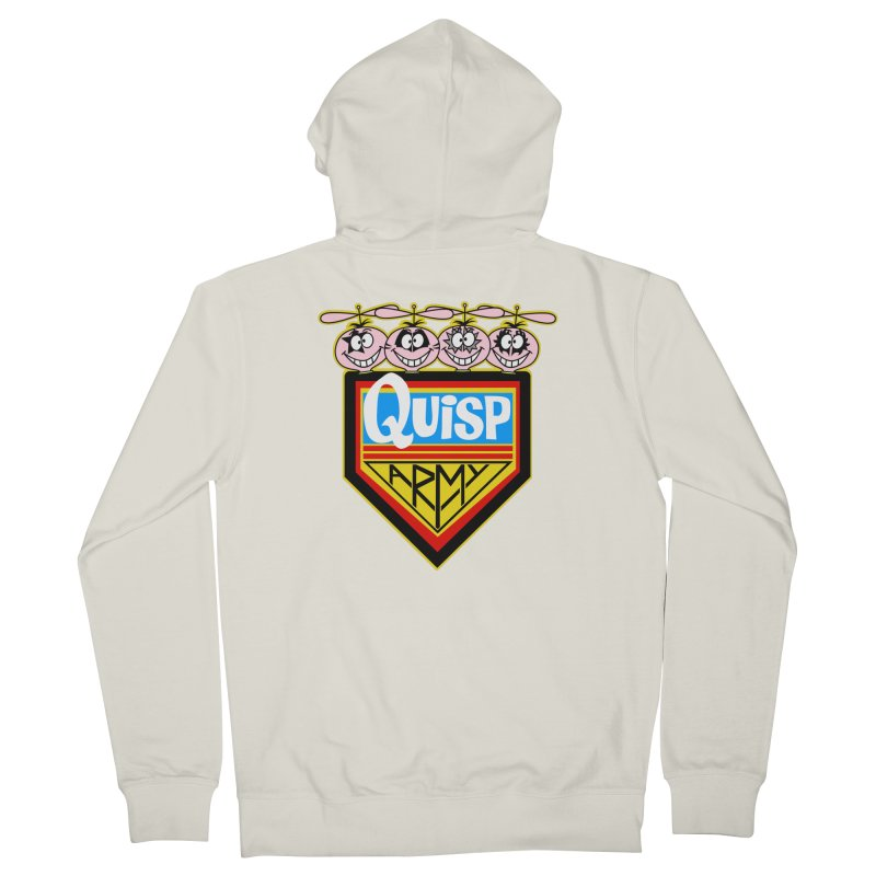 Quisp Army Men's French Terry Zip-Up Hoody by SavageMonsters's Artist Shop