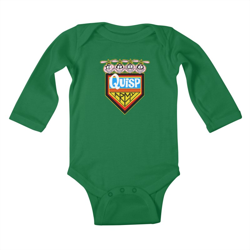 Quisp Army Kids Baby Longsleeve Bodysuit by SavageMonsters's Artist Shop