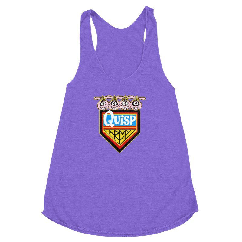 Quisp Army Women's Racerback Triblend Tank by SavageMonsters's Artist Shop