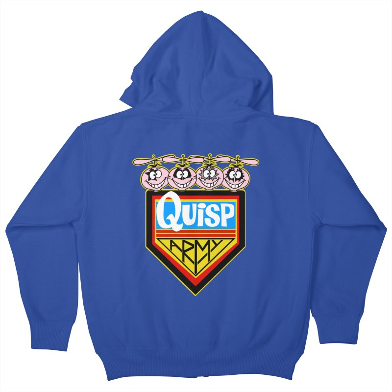 Quisp Army Kids Zip-Up Hoody by SavageMonsters's Artist Shop