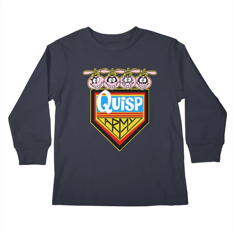 Quisp Army Kids Longsleeve T-Shirt by SavageMonsters's Artist Shop