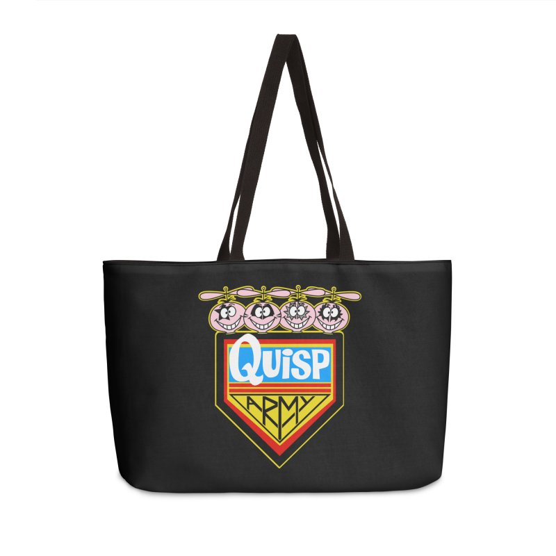 Quisp Army Accessories Weekender Bag Bag by SavageMonsters's Artist Shop
