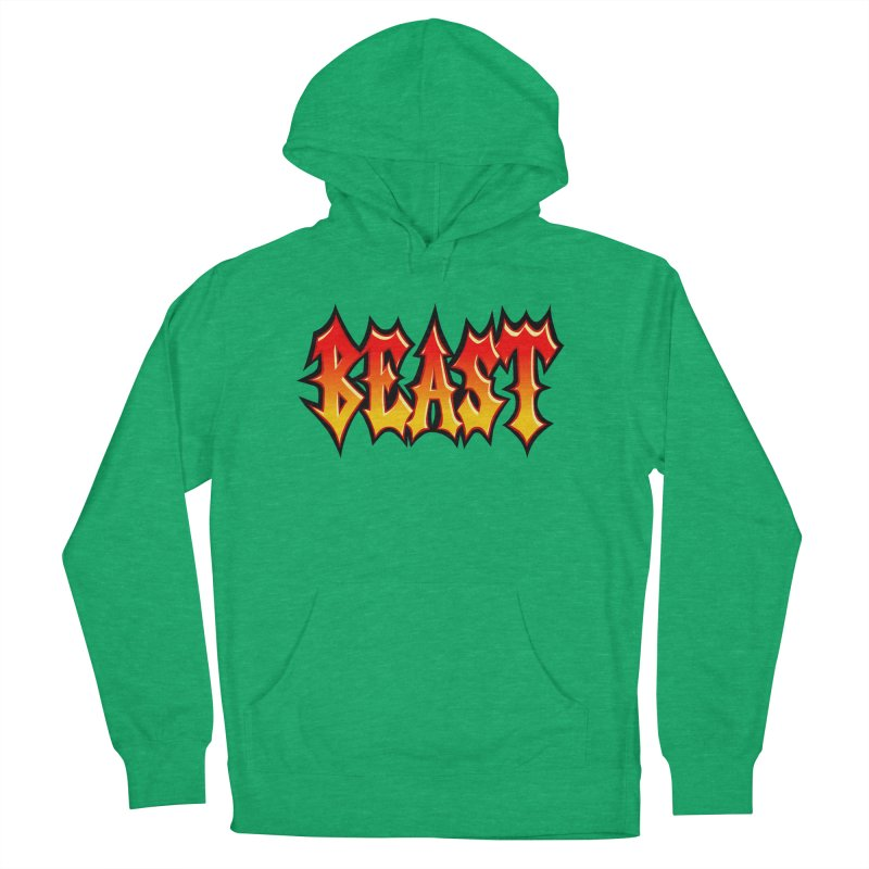 BEAST Men's French Terry Pullover Hoody by SavageMonsters's Artist Shop