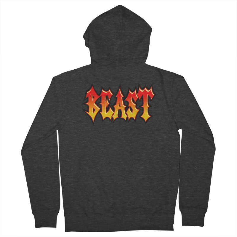 BEAST Women's French Terry Zip-Up Hoody by SavageMonsters's Artist Shop