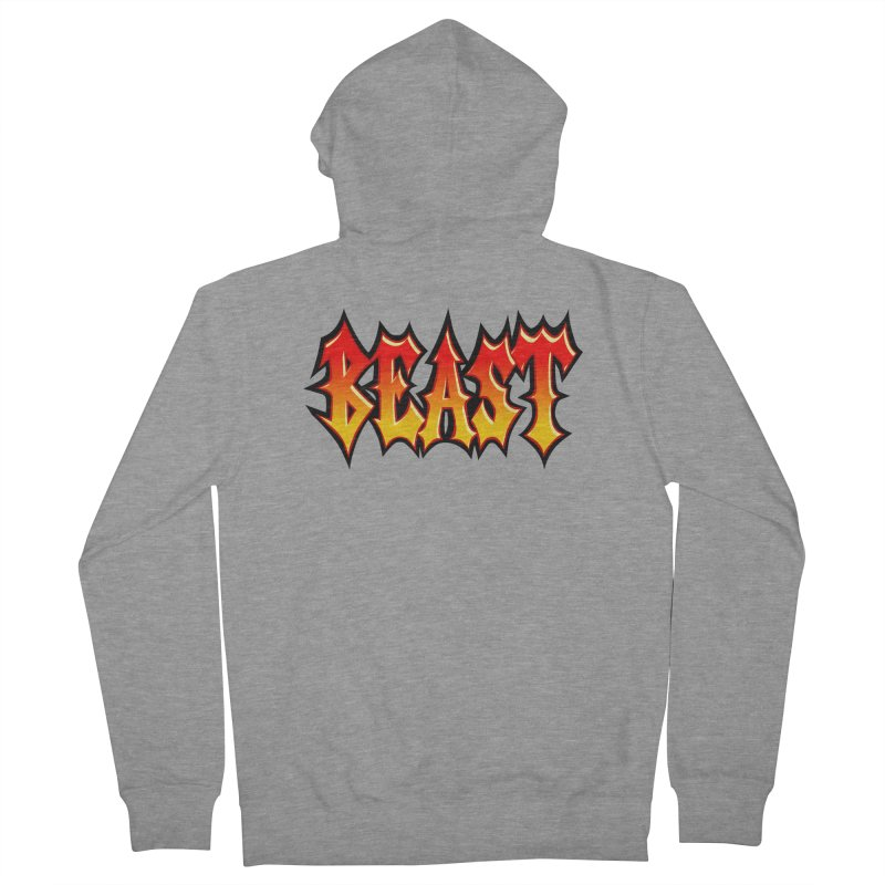 BEAST Men's French Terry Zip-Up Hoody by SavageMonsters's Artist Shop