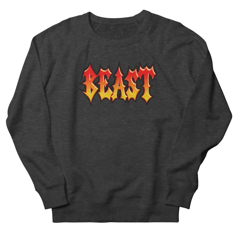 BEAST Men's French Terry Sweatshirt by SavageMonsters's Artist Shop