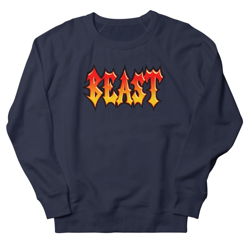 BEAST Men's French Terry Sweatshirt by SavageMonsters's Artist Shop