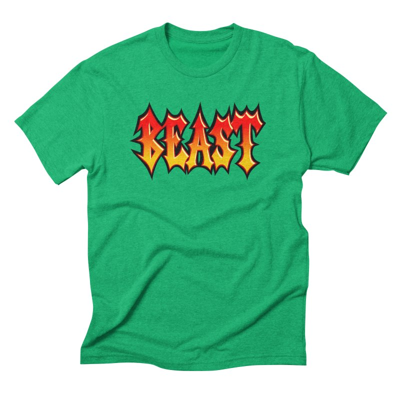 BEAST Men's Triblend T-shirt by SavageMonsters's Artist Shop