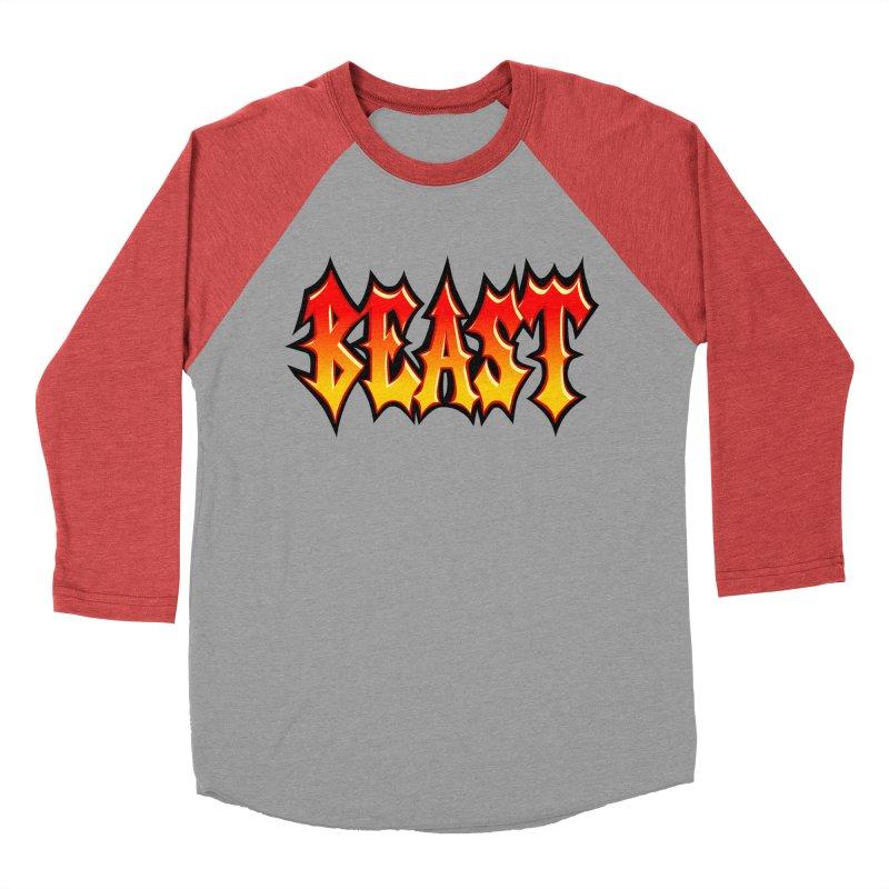 BEAST Men's Baseball Triblend T-Shirt by SavageMonsters's Artist Shop