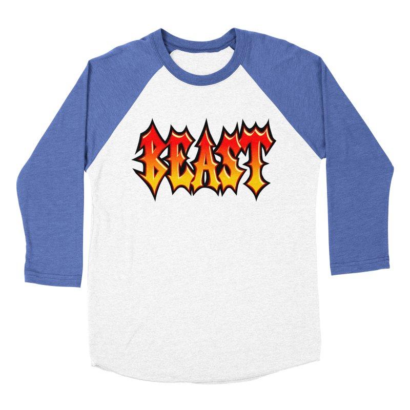 BEAST Men's Baseball Triblend Longsleeve T-Shirt by SavageMonsters's Artist Shop