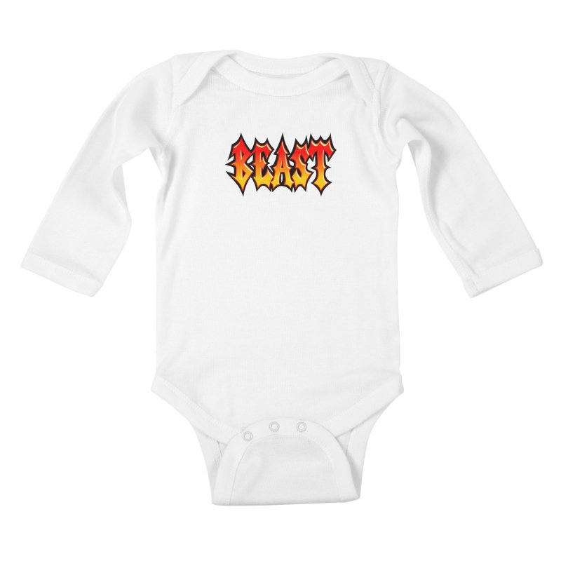 BEAST Kids Baby Longsleeve Bodysuit by SavageMonsters's Artist Shop
