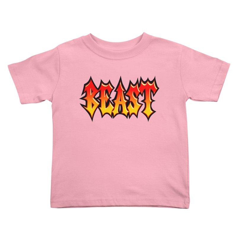 BEAST Kids Toddler T-Shirt by SavageMonsters's Artist Shop