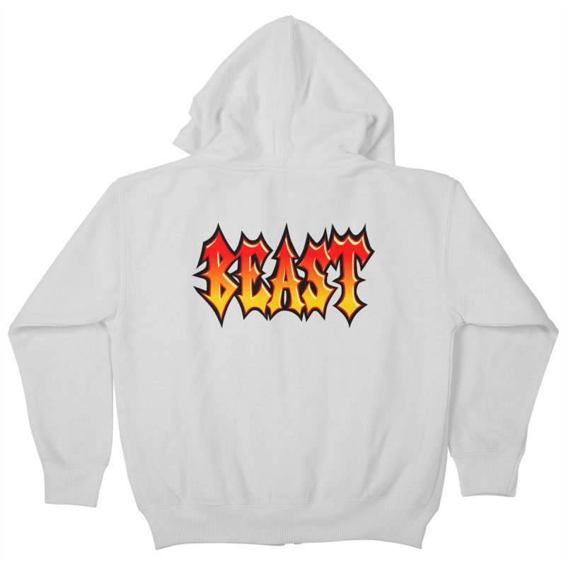 BEAST Kids Zip-Up Hoody by SavageMonsters's Artist Shop