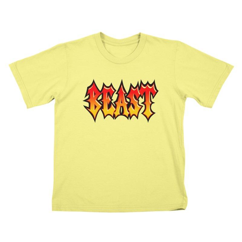 BEAST Kids T-shirt by SavageMonsters's Artist Shop