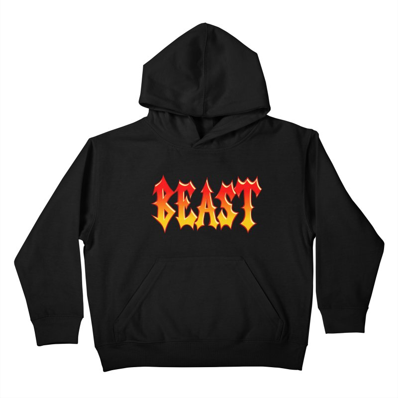 BEAST Kids Pullover Hoody by SavageMonsters's Artist Shop