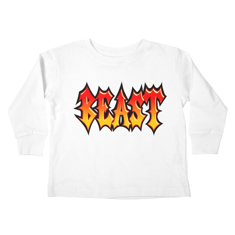 BEAST Kids Toddler Longsleeve T-Shirt by SavageMonsters's Artist Shop