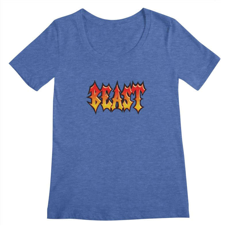 BEAST Women's Scoopneck by SavageMonsters's Artist Shop