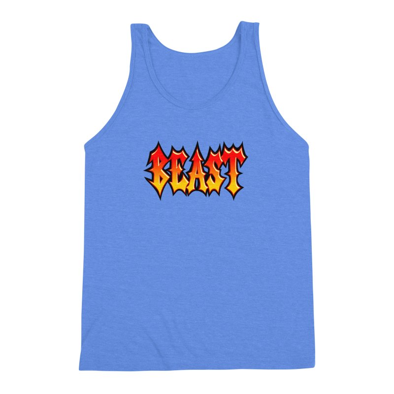 BEAST Men's Triblend Tank by SavageMonsters's Artist Shop