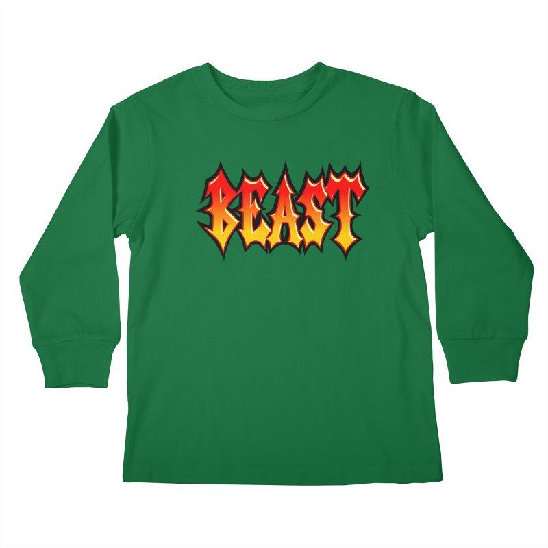 BEAST Kids Longsleeve T-Shirt by SavageMonsters's Artist Shop