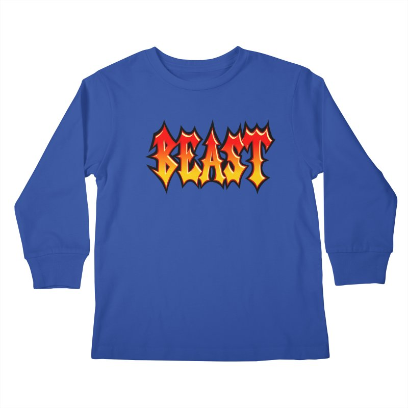 BEAST Kids Longsleeve T-Shirt by SavageMonsters's Artist Shop