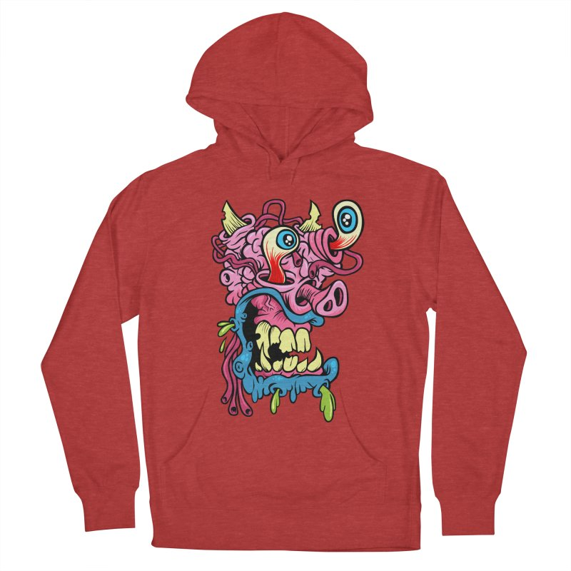 Gnarly Charlie Men's French Terry Pullover Hoody by SavageMonsters's Artist Shop