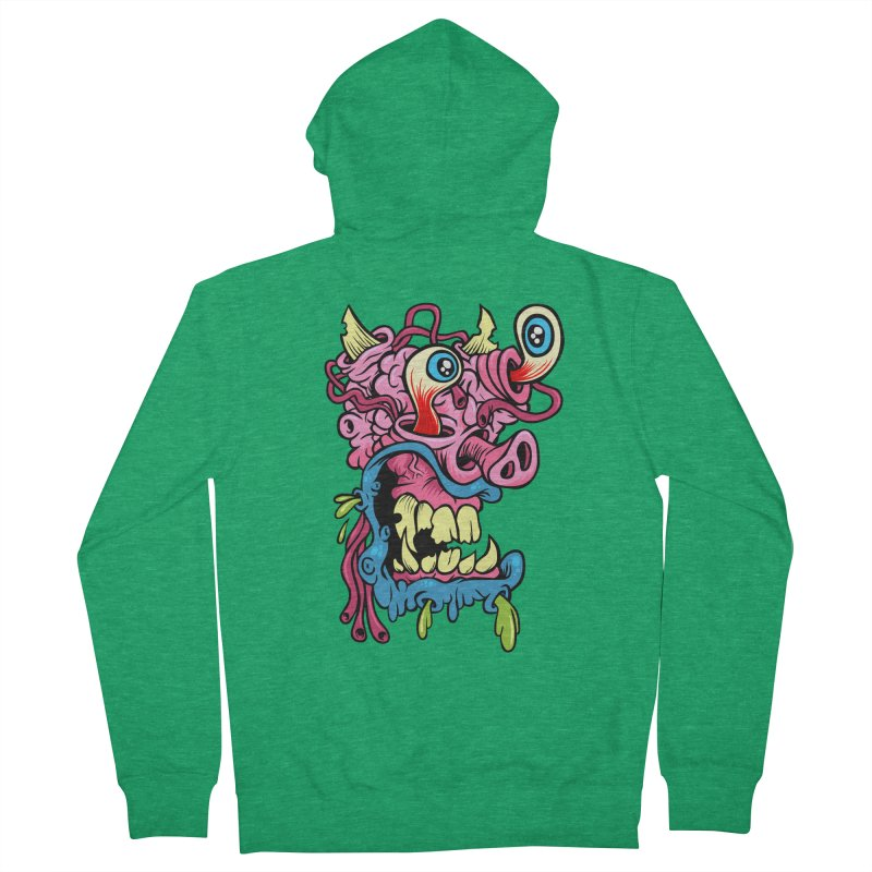 Gnarly Charlie Women's Zip-Up Hoody by SavageMonsters's Artist Shop