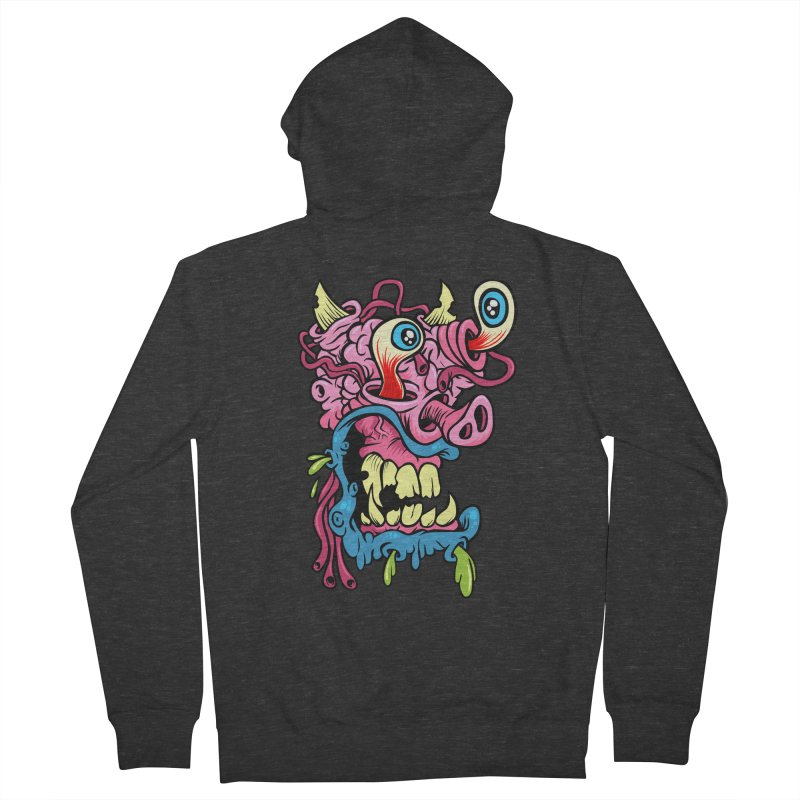 Gnarly Charlie Women's French Terry Zip-Up Hoody by SavageMonsters's Artist Shop