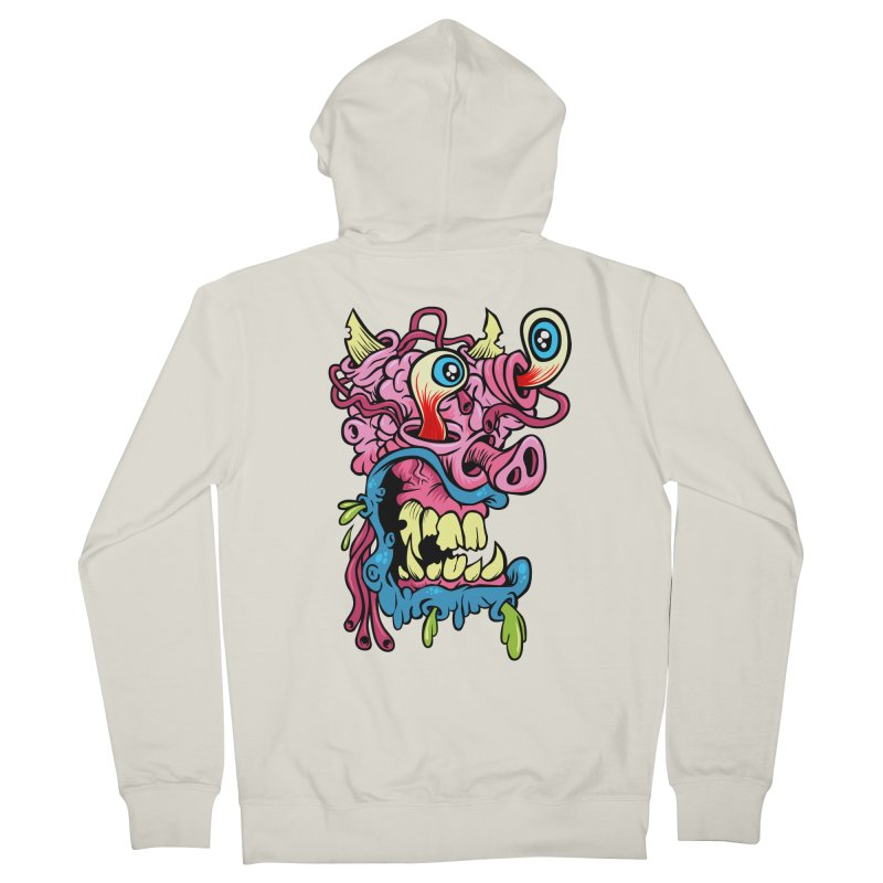 Gnarly Charlie Men's French Terry Zip-Up Hoody by SavageMonsters's Artist Shop