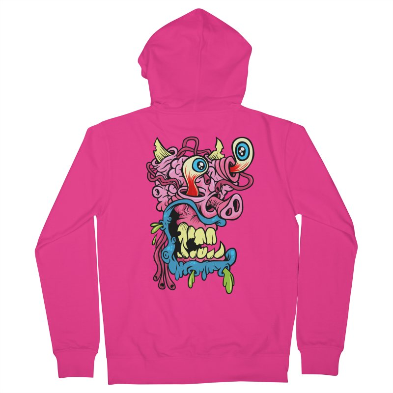 Gnarly Charlie Men's Zip-Up Hoody by SavageMonsters's Artist Shop