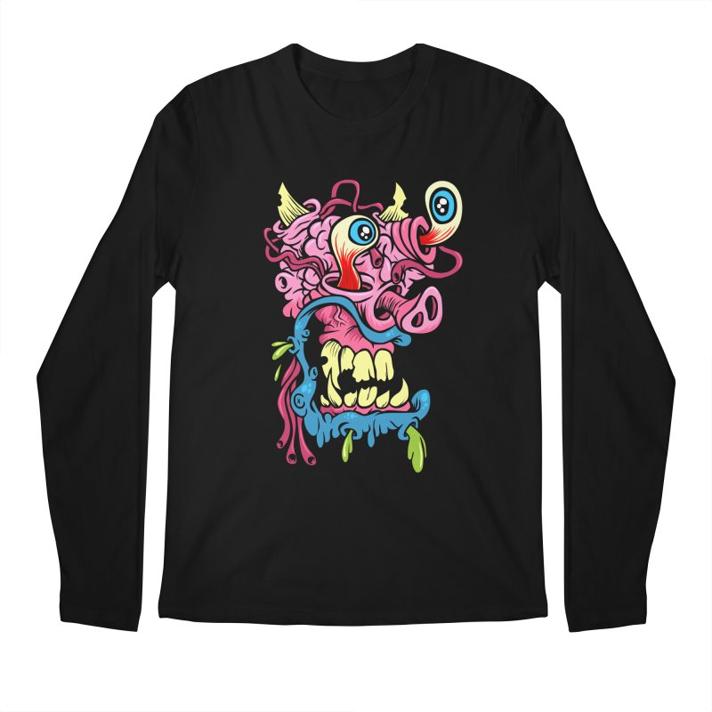 Gnarly Charlie Men's Longsleeve T-Shirt by SavageMonsters's Artist Shop