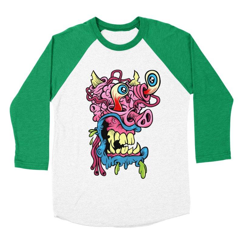 Gnarly Charlie Women's Baseball Triblend Longsleeve T-Shirt by SavageMonsters's Artist Shop