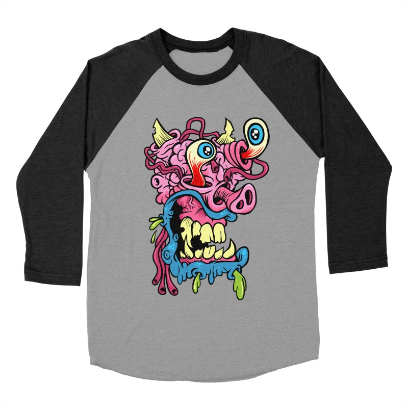 Gnarly Charlie Men's Baseball Triblend T-Shirt by SavageMonsters's Artist Shop