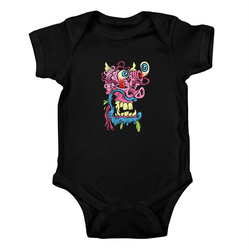 Gnarly Charlie Kids Baby Bodysuit by SavageMonsters's Artist Shop