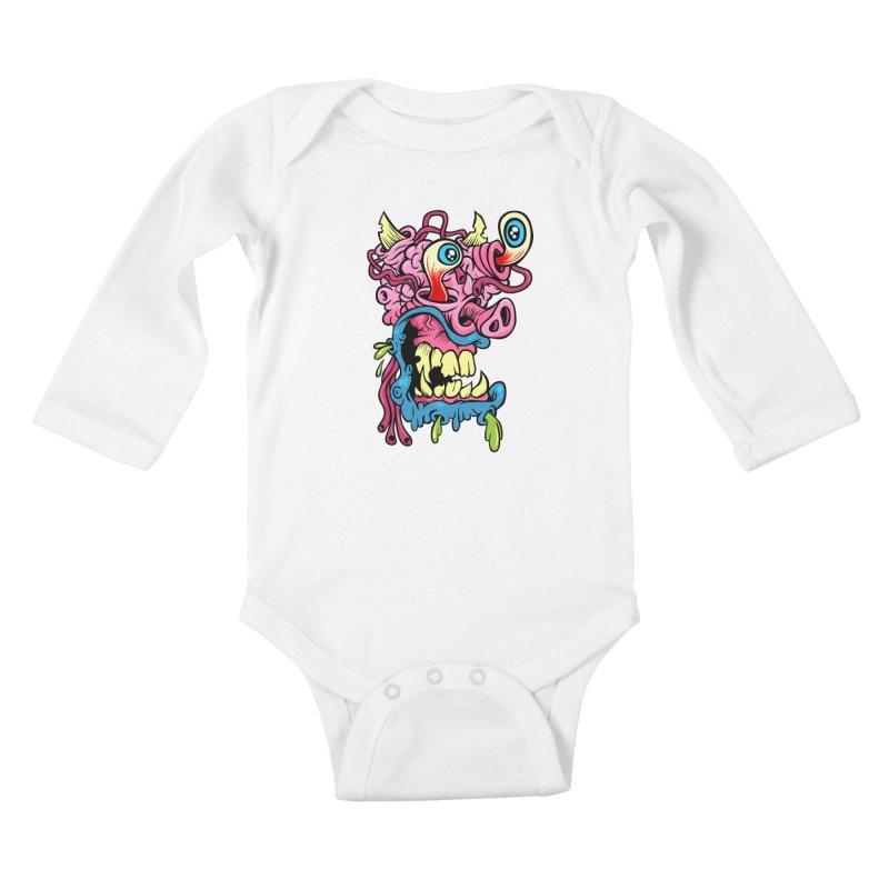 Gnarly Charlie Kids Baby Longsleeve Bodysuit by SavageMonsters's Artist Shop