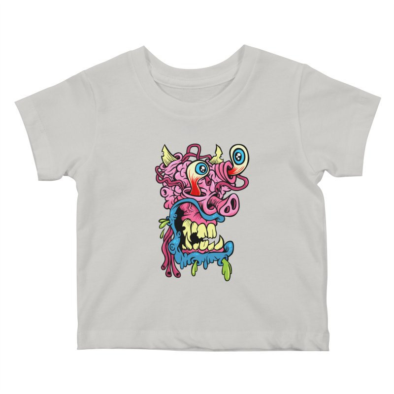 Gnarly Charlie Kids Baby T-Shirt by SavageMonsters's Artist Shop