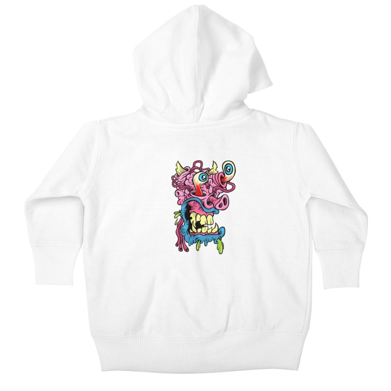 Gnarly Charlie Kids Baby Zip-Up Hoody by SavageMonsters's Artist Shop