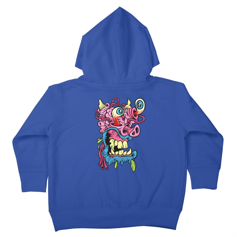 Gnarly Charlie Kids Toddler Zip-Up Hoody by SavageMonsters's Artist Shop