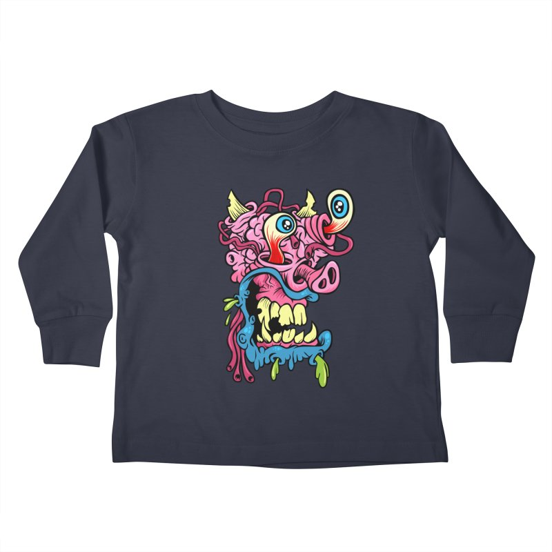 Gnarly Charlie Kids Toddler Longsleeve T-Shirt by SavageMonsters's Artist Shop