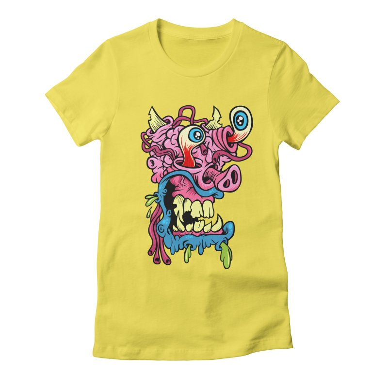 Gnarly Charlie Women's Fitted T-Shirt by SavageMonsters's Artist Shop
