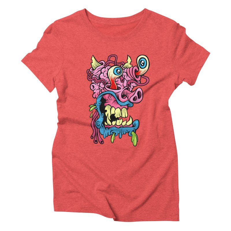 Gnarly Charlie Women's Triblend T-shirt by SavageMonsters's Artist Shop
