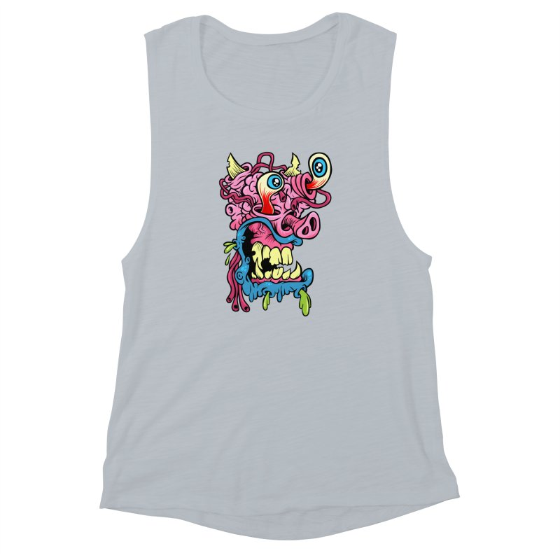 Gnarly Charlie Women's Muscle Tank by SavageMonsters's Artist Shop