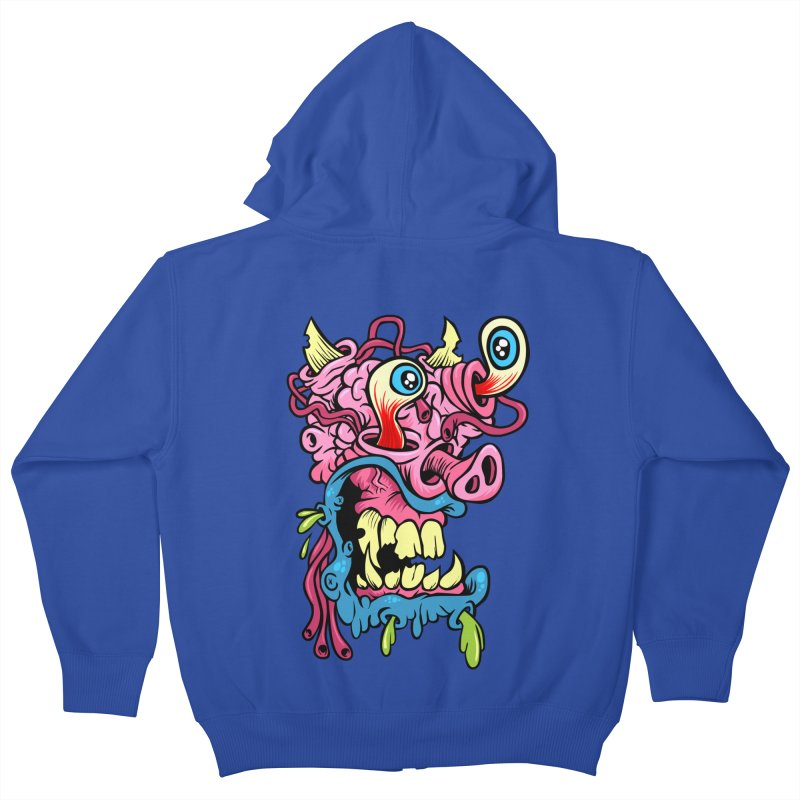 Gnarly Charlie Kids Zip-Up Hoody by SavageMonsters's Artist Shop