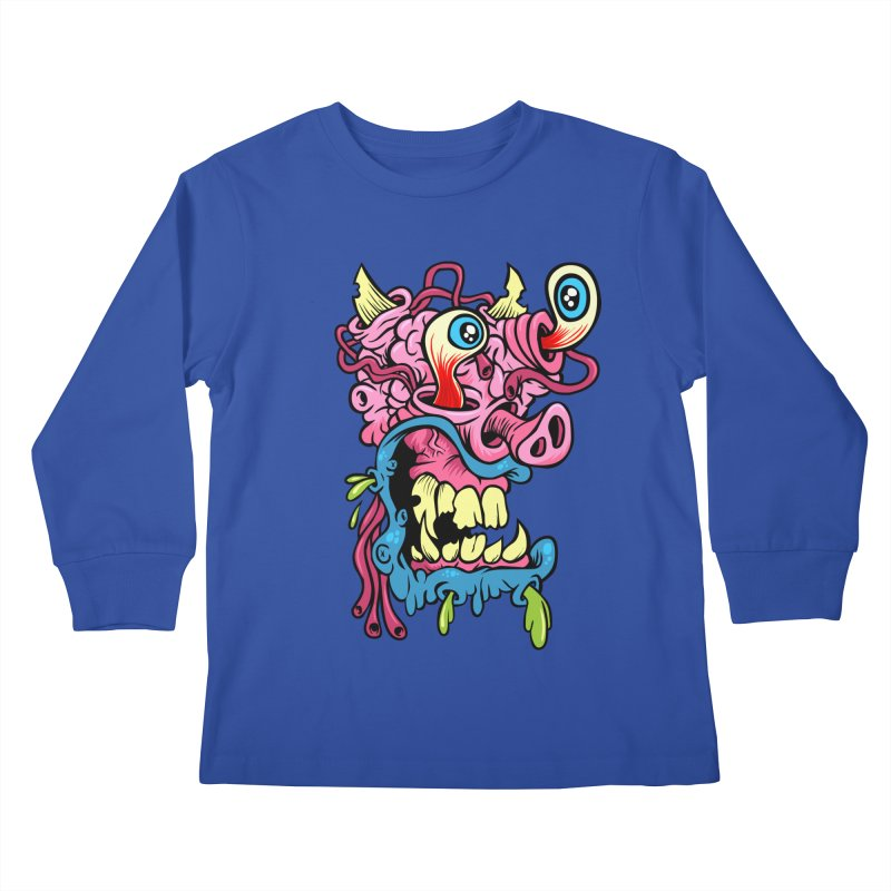 Gnarly Charlie Kids Longsleeve T-Shirt by SavageMonsters's Artist Shop