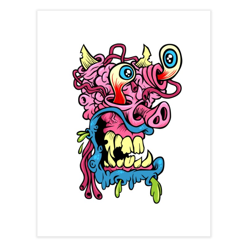 Gnarly Charlie Home Fine Art Print by SavageMonsters's Artist Shop