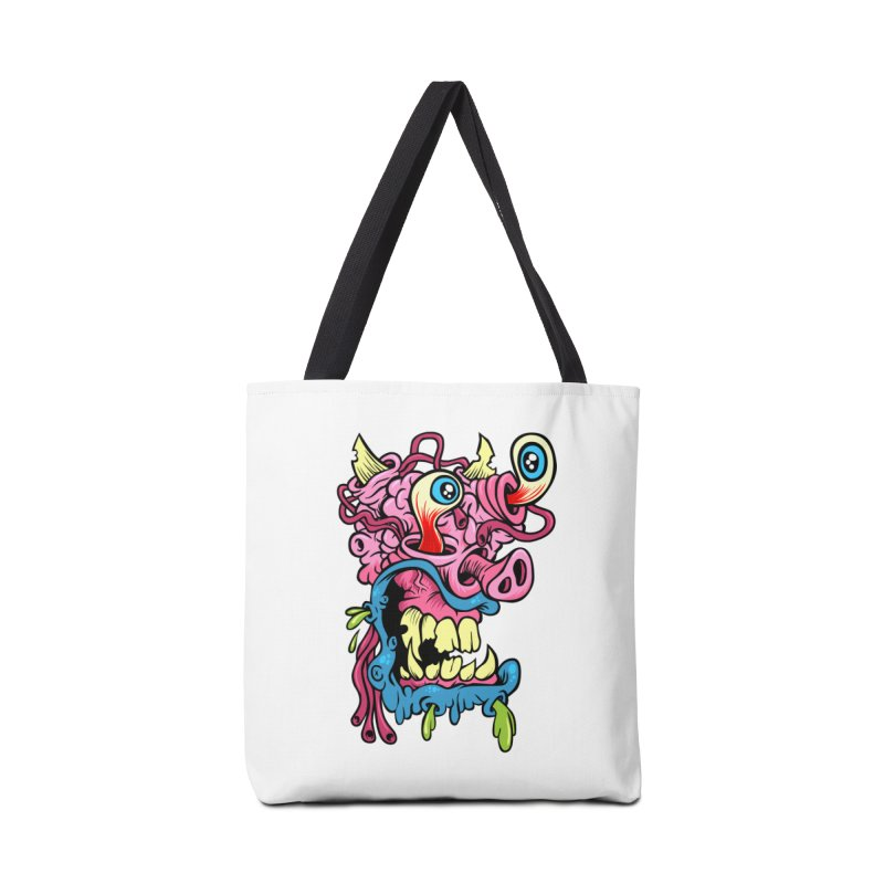 Gnarly Charlie Accessories Tote Bag Bag by SavageMonsters's Artist Shop