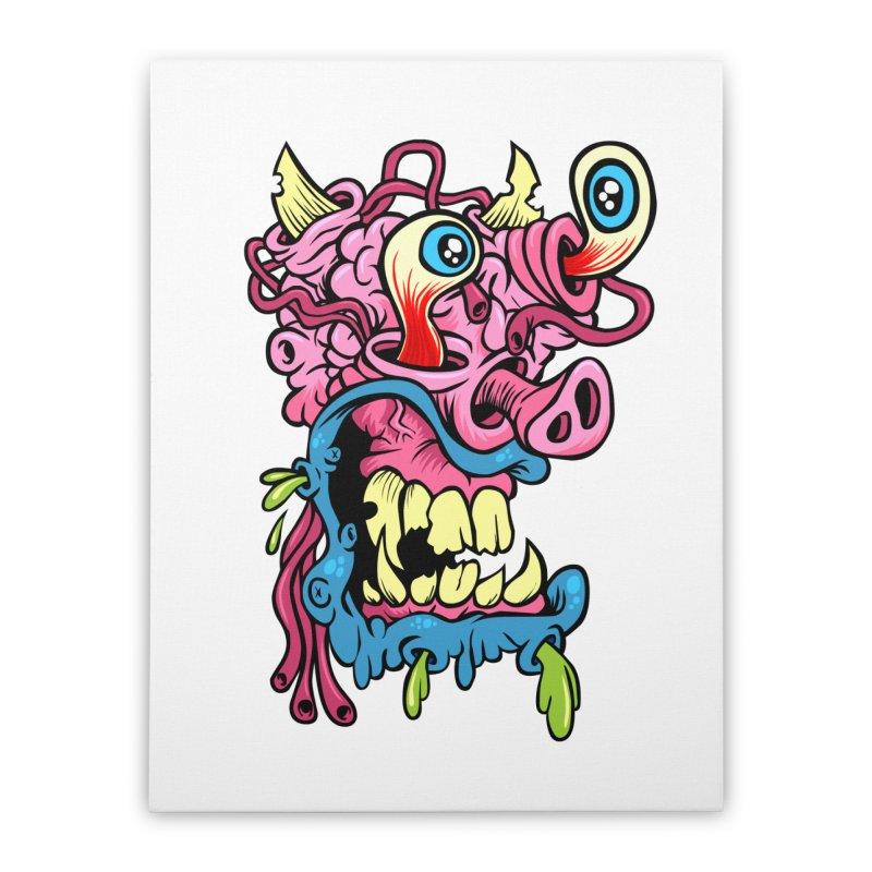 Gnarly Charlie Home Stretched Canvas by SavageMonsters's Artist Shop