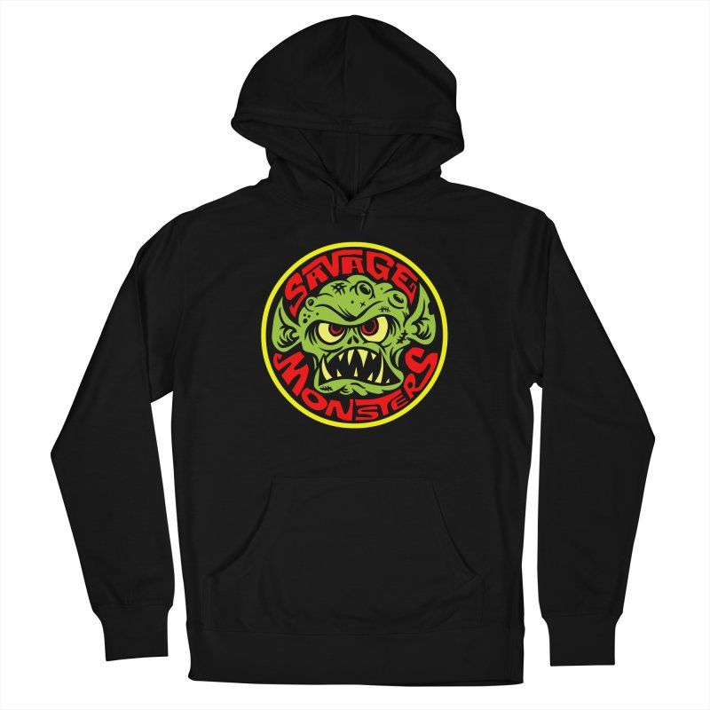 Classic Savage Monsters Logo Men's French Terry Pullover Hoody by SavageMonsters's Artist Shop